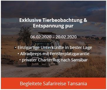 begleitete Safarireise Tansania Afrika