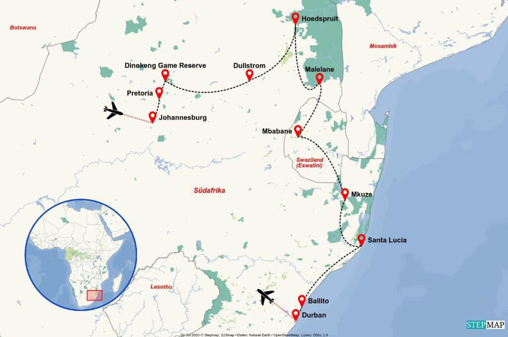 Geführte Kleingruppenreise Südafrika Albatros 2021
